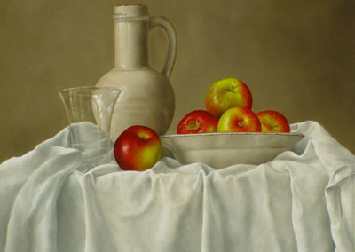 Apples in an Earthenware Bowl
