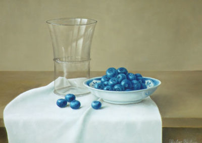 Blueberries and a Glass