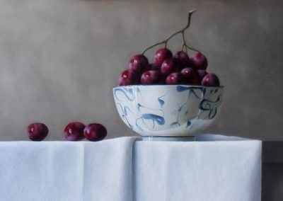 Grapes with Porcelain