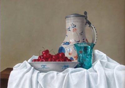 Cherries with Blue Glass
